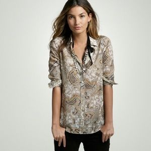 """J. Crew """"The Perfect Shirt"""" In Paisley"""